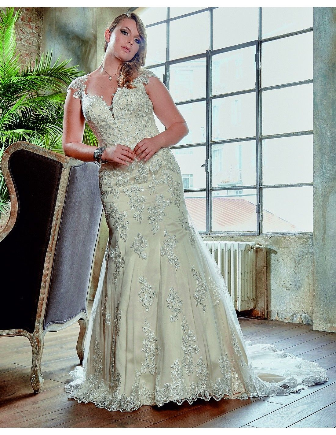 New lace fit n flare available at Spotlight Formal Wear! #SpotlightBridal