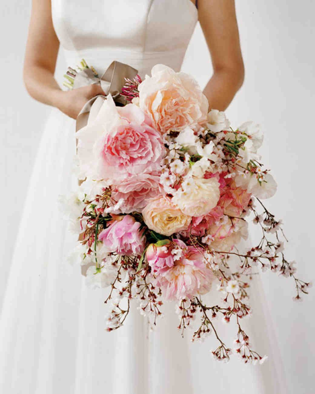 Bridal Showers Bouquet With Cherry Blossoms