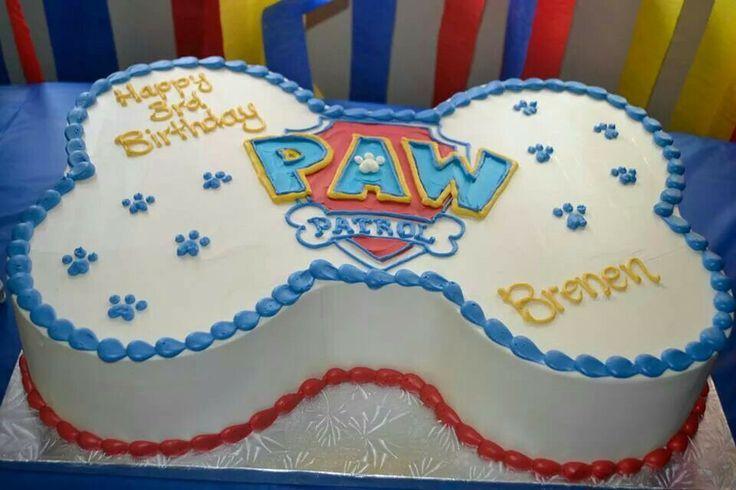 paw patrol bone cake