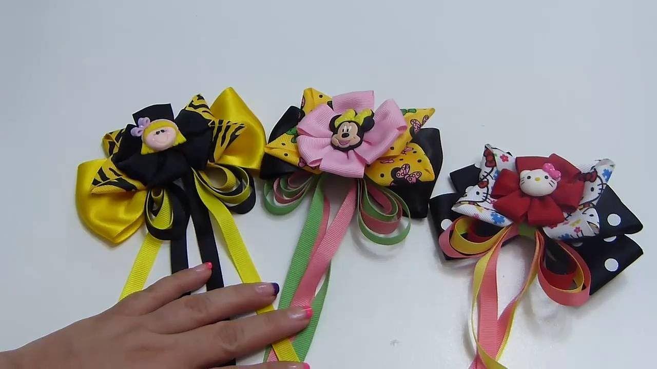 Diy mo os lazos flores en cinta para el cabello how to for Decoraciones para el pelo