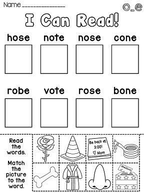 Long O Worksheets and Activities {NO PREP!} | Daily 5 Centers ...