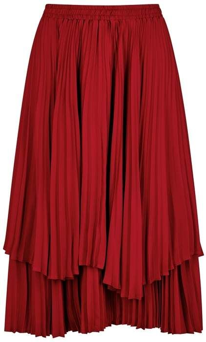 1d9788140a Clu Red Pleated Satin Skirt | Products | Skirts, Satin skirt, Clu