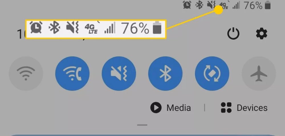 Android Status Bar Icons What They Mean And How To Remove Them Status Bar Icons Android Icons Phone Icon