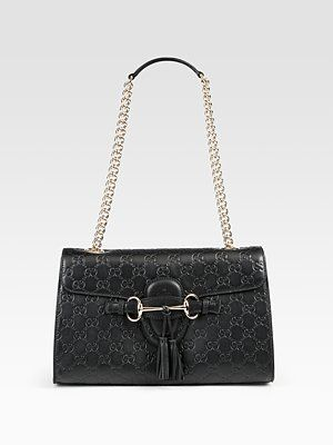 656dc221e4b9b4 Gucci - Emily Medium Shoulder Bag - Saks.com | Fashion | Shoulder ...