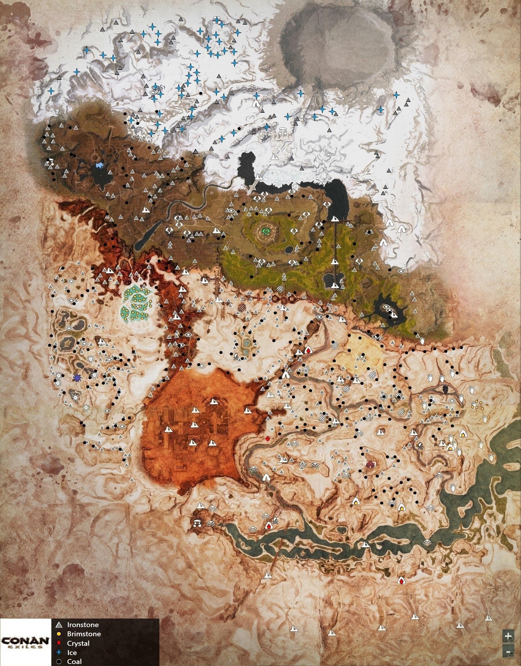conan exiles carte interactive Carte Conan Exiles | Carte | Carte, Tutoriel