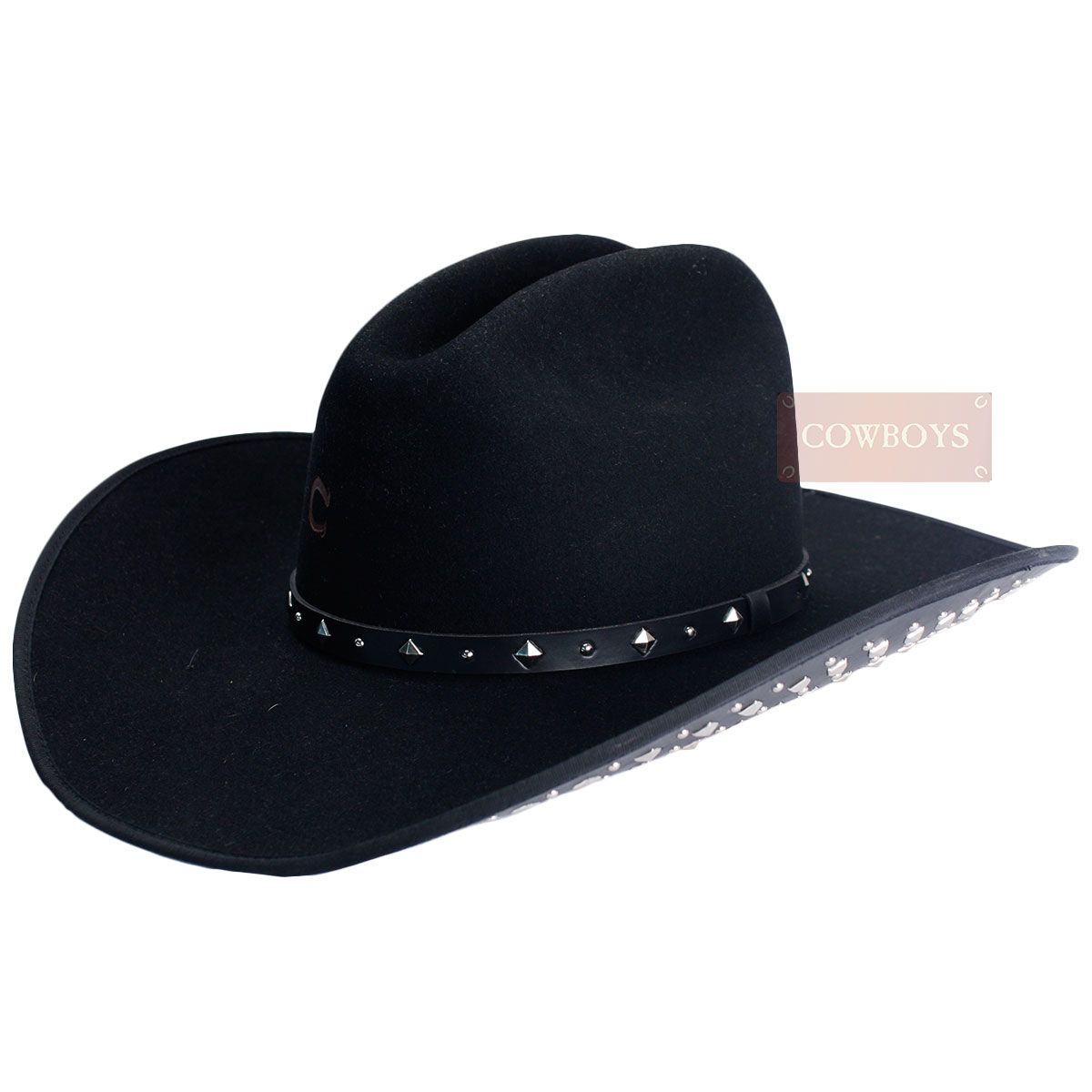 Chapéu de Feltro Feminino Charlie Horse Black Resistol Chapéu de Feltro  Feminino f2979e19f97