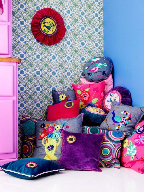 bright color pillows