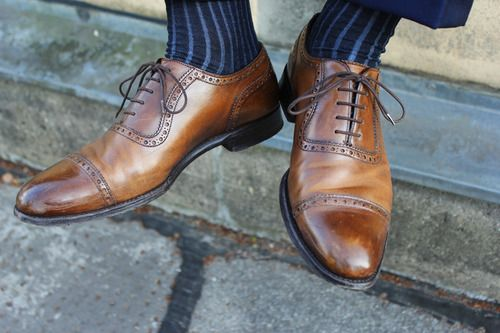 Polish your shoes. Or let them be polished. Either way, they should shine.
