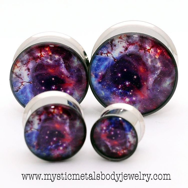 Galaxy Picture Plugs by www.mysticmetalsbodyjewelry.com.  Follow Mystic Metals on Instagram @mysticmetals, and Facebook at Mystic Metals Body Jewelry! #handmade #resin #plugs #tunnels #mysticmetals #stretchedears #stretchedlobes #bodyart #bodymod #modified #modification #girlswithplugs #girlswithtattoos #gauges #guyswithplugs #guyswithtattoos #tattoos #piercings #awesome #piercedgirls #suicidegirls #pluglove #pierced #pluglife #love #instagood #photooftheday #plugsporn #plugsnotdrugs