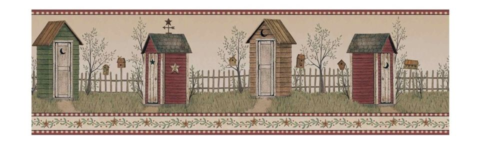Rustic Outhouse Wallpaper Border Bg1621bd Http Decorate247 Com Rustic Outhouse Wallpaper Border Bg1621bd Wallpaper Border Wall Borders Home Wallpaper