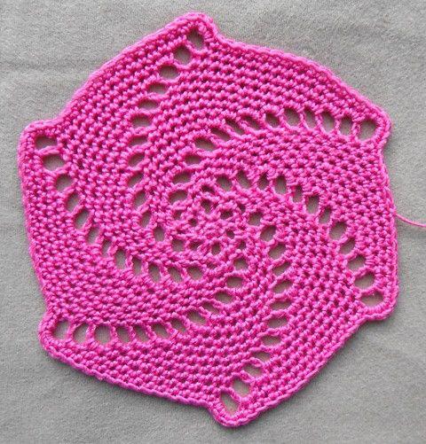 Lace spiral coaster | Crochet/ Knitting Bank | Crochet ...