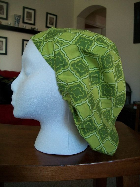 Mezzanine Lime  Scrub Caps by fadendesignstudios on Etsy, $17.99
