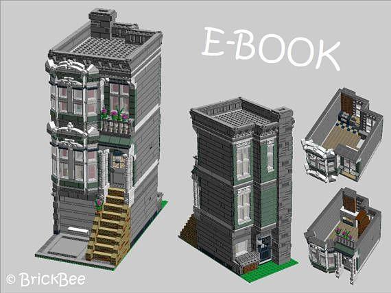 pdf bauanleitung f r ein modell aus lego steinen stadthaus lego pinterest lego stadthaus. Black Bedroom Furniture Sets. Home Design Ideas