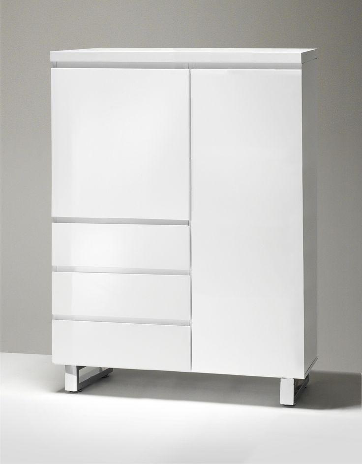 Weiß Hochglanz Kommode 17 Wohnzimmerschrank Weiß