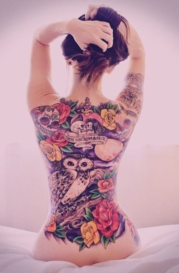 Lower back tattoo porn