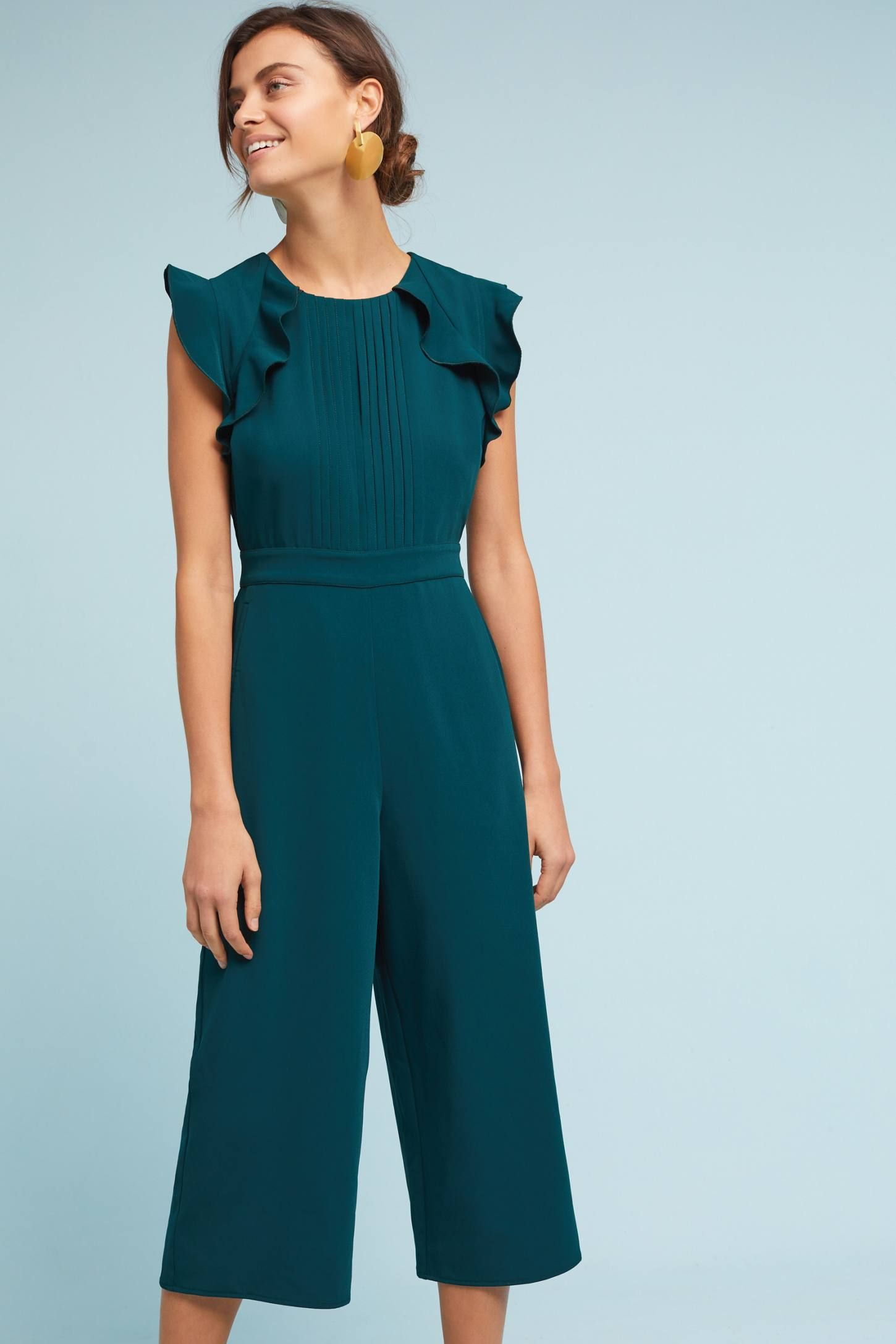 dc98f352c6d Shop the Pleated   Ruffled Jumpsuit and more Anthropologie at Anthropologie  today. Read customer reviews