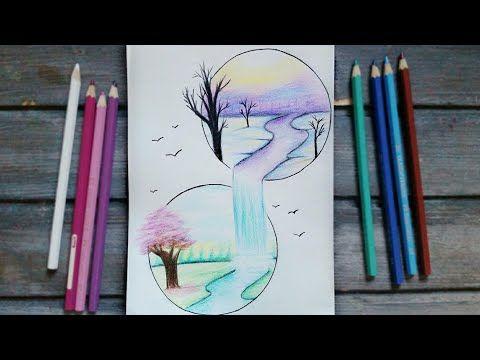 رسم سهل تعليم رسم منظر طبيعى سهل خطوه بخطوه بالرصاص للمبتدئين بطريقة سهلة تعليم الرسم Youtube Bff Drawings Art Drawings Simple Diy Art Painting