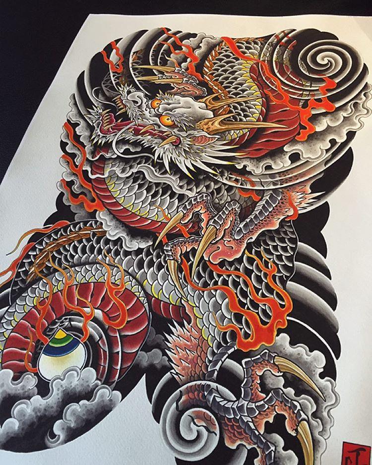 "jin_q choi on Instagram: ""Dragon body suit 🔥🍥🔥 #seoulink #seoulinktattoo #tattoo #tats #tatts #tatted #tattoos #ink #inked #tattooapprentice #art #tattooart…"""