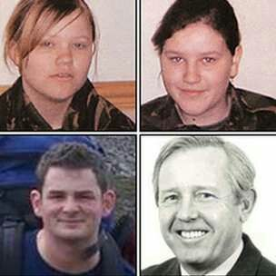Clockwise from top left,  Aircadet Nikkita Walters. Aircadet Katie Jo Davies. Reserve Pilot Hylton Price. F/Lt Andrew Marsh RAF.  All killed in the mid air collision of the Tutors G-BYUT & G-BYVT over Kenfig Burrows near Porthcawl on the 11th February 2009.