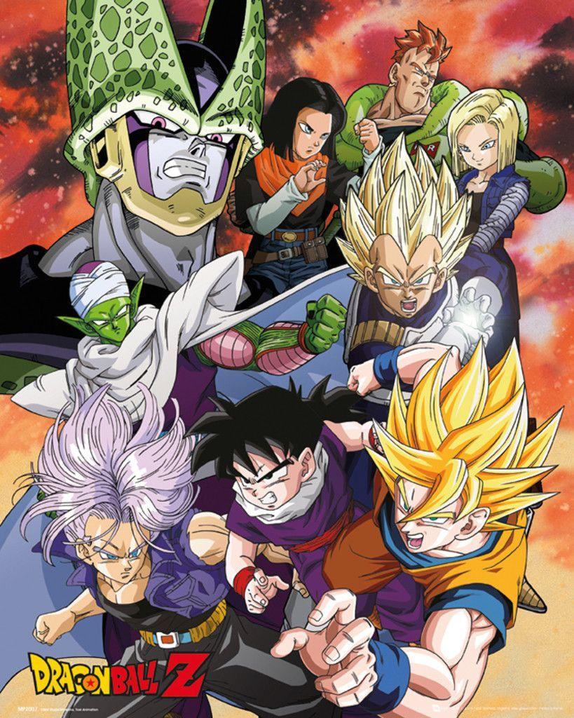 Dragon ball z cell saga official mini poster deku
