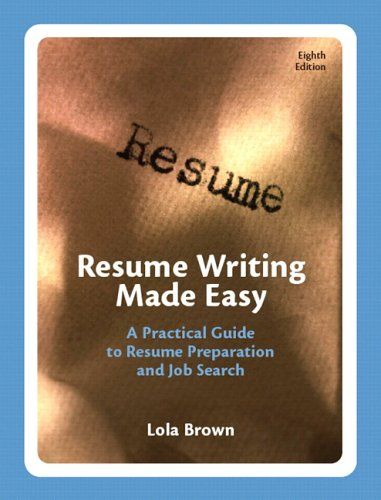 Resume Writing Made Easy A Practical Guide to « LibraryUserGroup - resume library