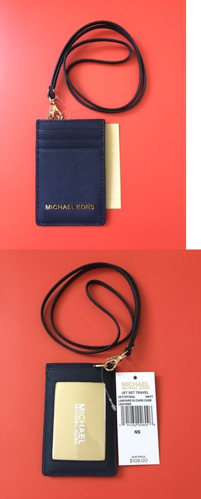 1390b162313f ID and Badge Holders 169287: Michael Kors Jet Set Travel Lanyard Id Card  Case Id Badge Navy New -> BUY IT NOW ONLY: $35 on eBay!