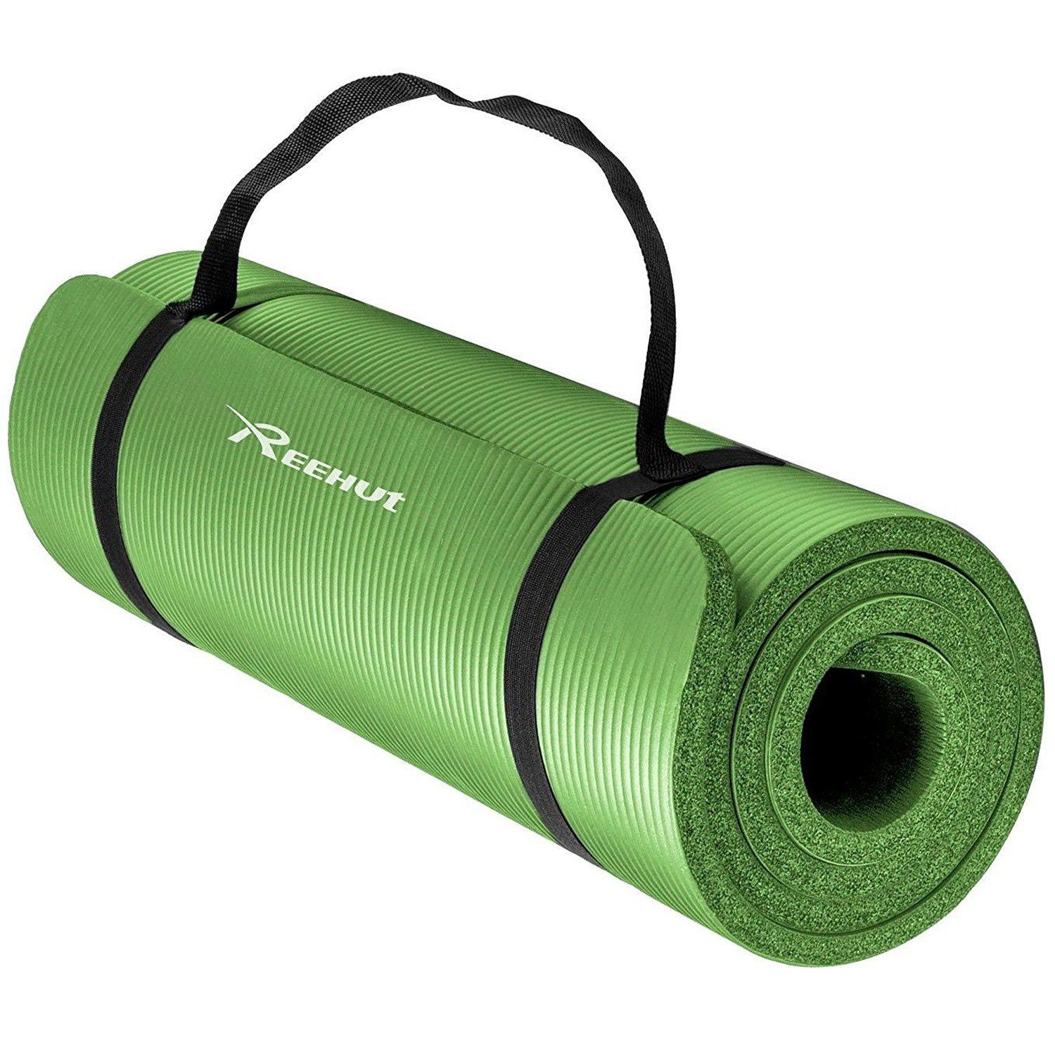 Amazon Com Reehut 1 X2f 2 Inch Extra Thick High Density Nbr Exercise Yoga Mat For Pilates Fitness Amp Thick Yoga Mats Extra Thick Yoga Mat Yoga Mats Best