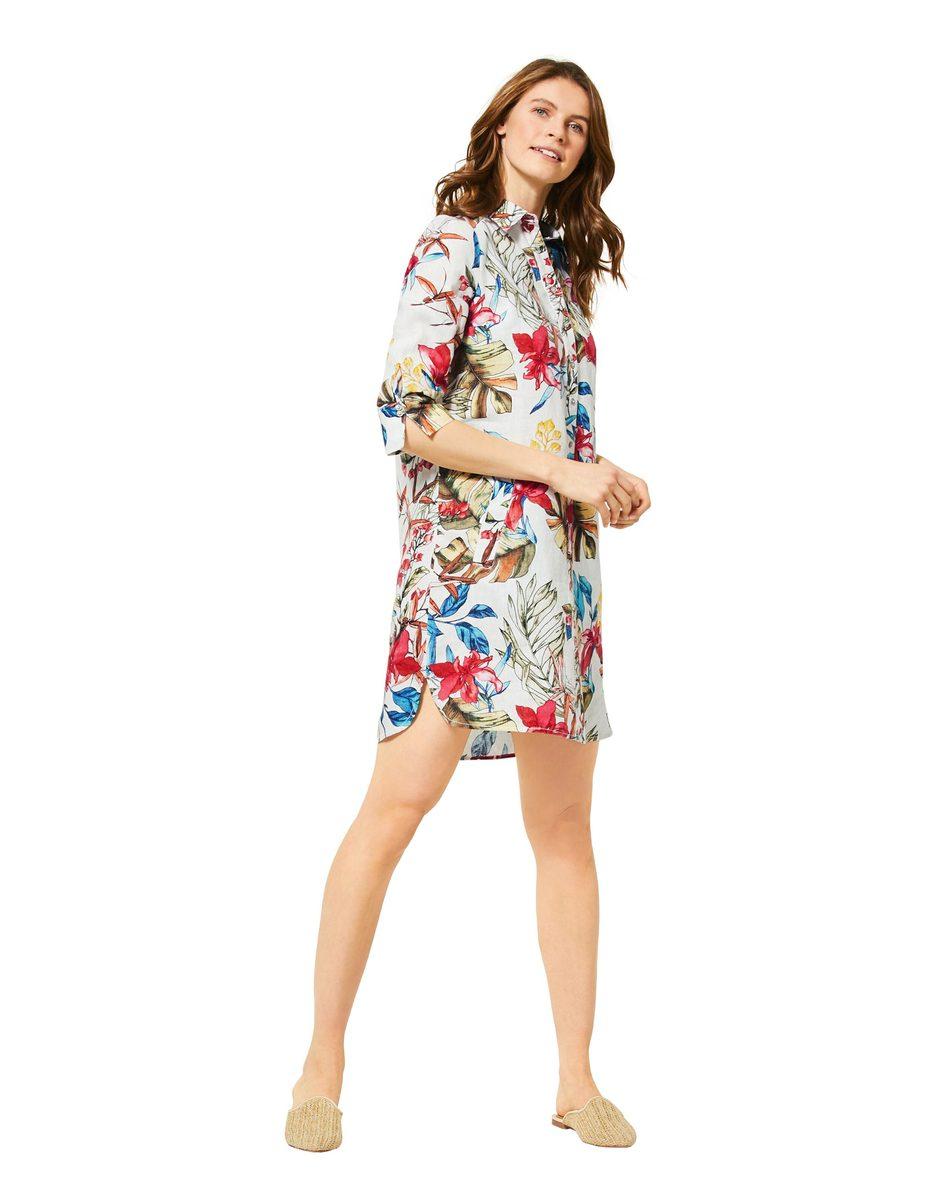 Cecil Polo Kleid Aus Leinen In 2020 Kleider Modestil Leinen
