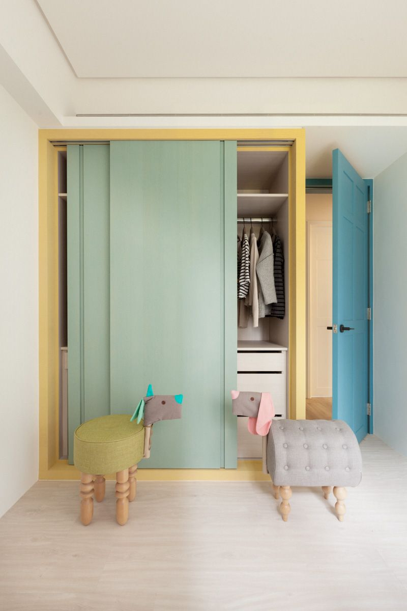 Pastel Colours Sliding Door Wardrobe Http Www Slidingworld Co