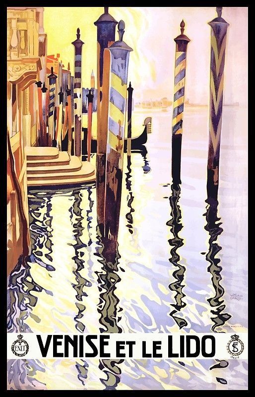 Venise Et Le Lido Vintage Travel Poster old wall art re print classic