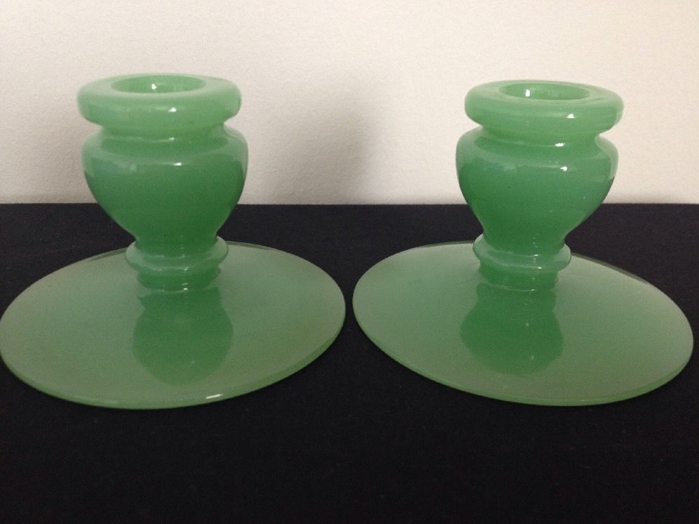 Fenton Jade Green Jar