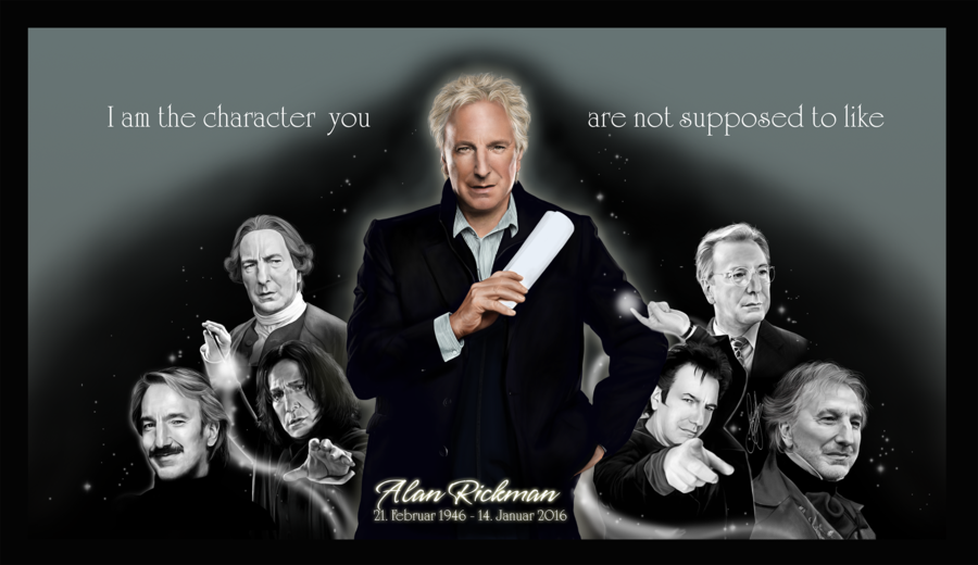 CLICK DOWNLOAD FOR HIGH RESOLUTION PLS!!! I know I know nothing really new... BUT I actually wanted to finish this and send this to our dear and so beloved Mr. Rickman for his 70s birthday this yea...
