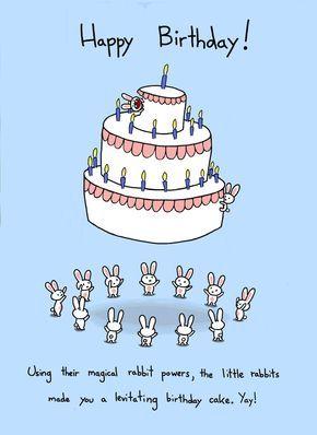 Alles Gute Zum Geburtstag Hase Kuchen Karte Von Bikeparts Auf Etsy