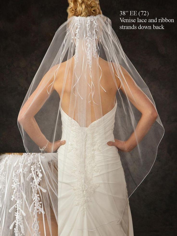 Wedding Veils Picture Description JL Johnson Bridal Fingertip Length Veil V5360 With Venise Lace Affordable Elegance