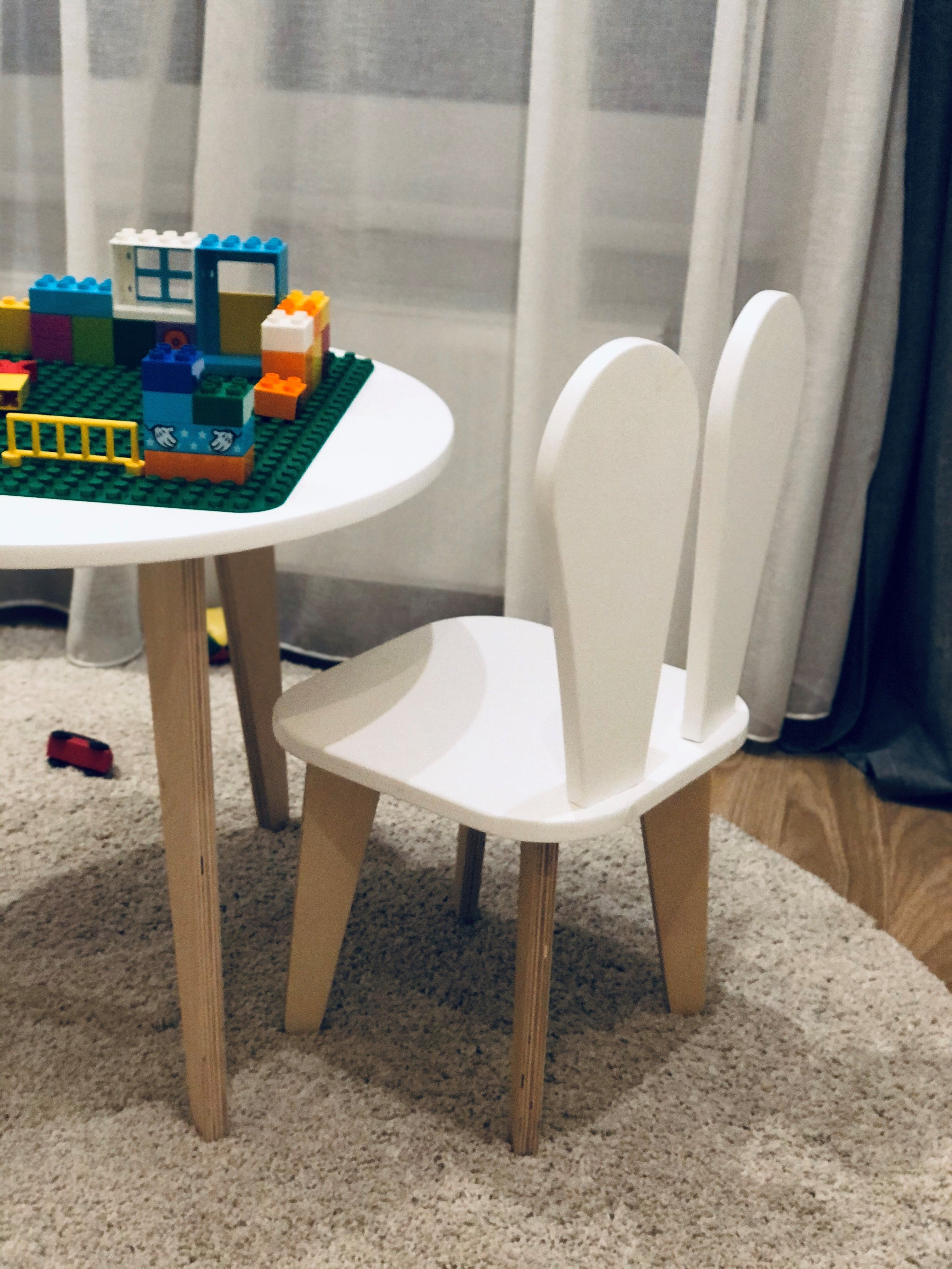 Kid Bunny Chair And Table Set Toddler Furniture Kid Table Baby Furniture Baby Stool Toddler Chair Scandinavian Style Kid Furniture Kids Wooden Table Kids Table And Chairs Toddler Chair