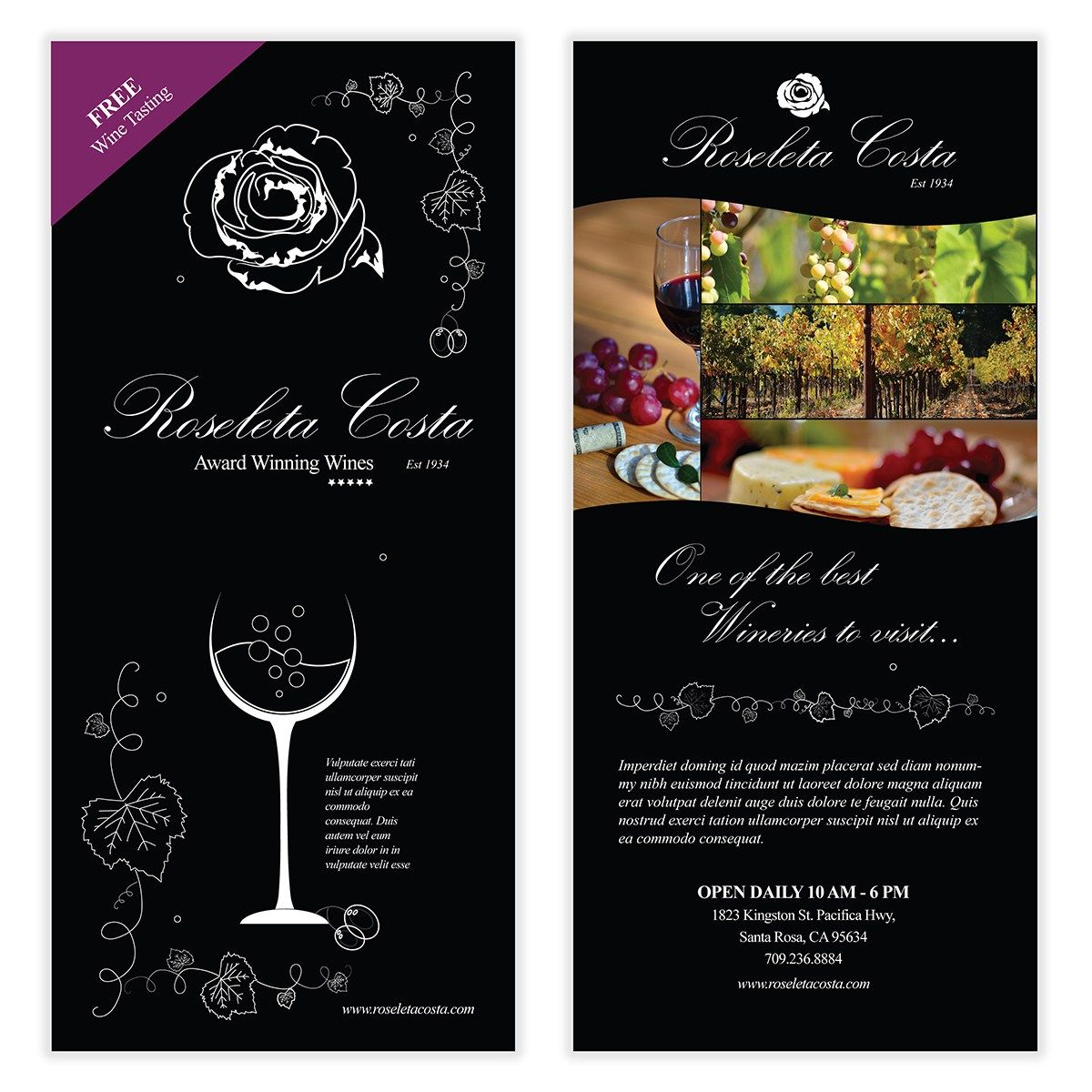 Wine flyer template 03 chakra posters flyers product design wine flyer template 03 maxwellsz