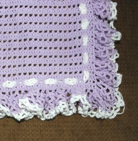 Free Crochet Project Baby Blanket Shell Edging