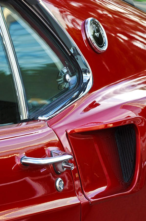 1969 Ford Mustang Mach 1 Side Scoop Photograph by Jill Reger