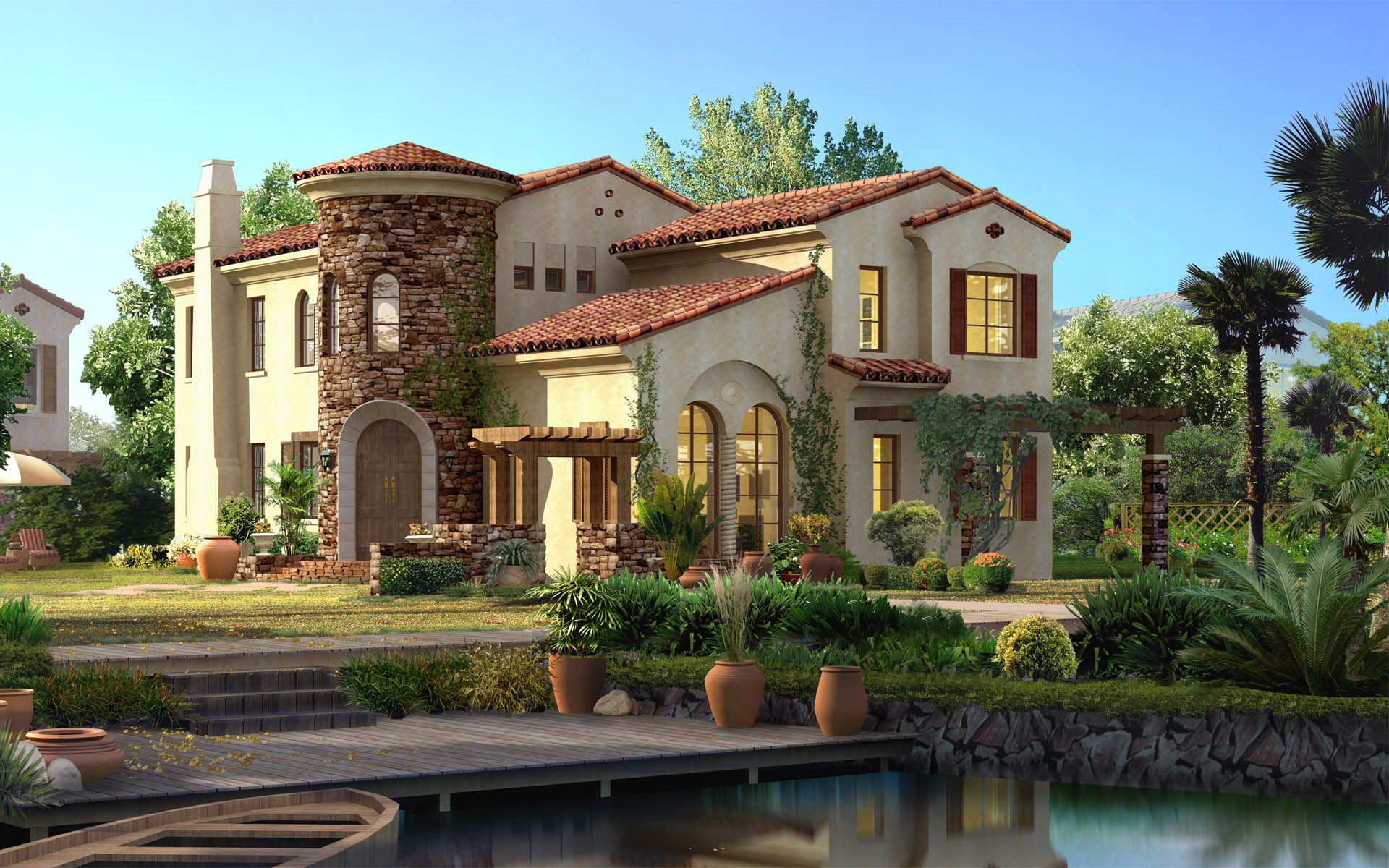Image detail for -Garden Architecture renderings 7548 - Architectural Landscape Design ...