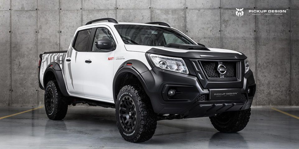 Nissan Navara Navy Limited Edition Fitted With Widebody Kit By Carlex Design Camioneta Nissan Camionetas Nissan