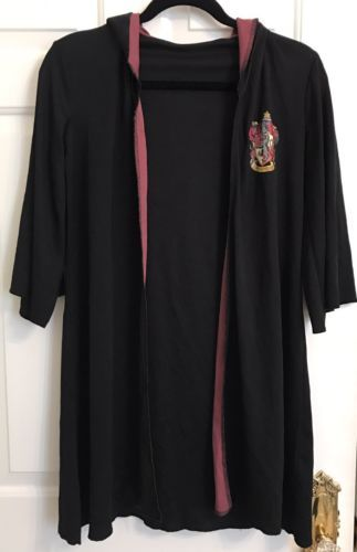 HARRY POTTER Gryffindor Cloak Robe Cape Party Costume Dress Up Play Size Small