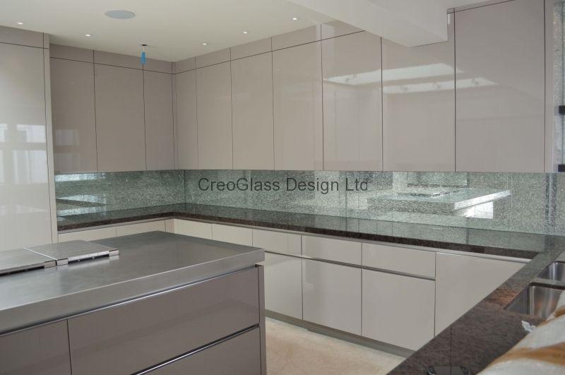White Kitchen Mirror Splashback patterned mirror kitchen glass splashback. patterned mirror are