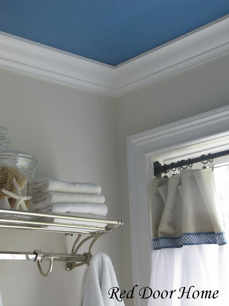 Laundry Room With Blue Ceiling And Gray Walls Things We Did In Our House Is Paint The Master Bathroom