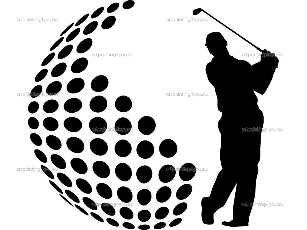 Golfer silhouette pinterest golf cricut and silhouettes