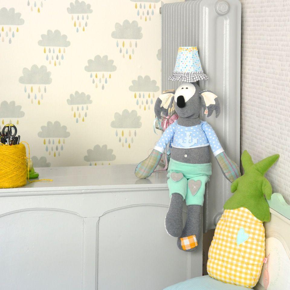Koala, Koalalampe, Kinderlampe, Kinderzimmer, Ananas, Wolkentapete ...