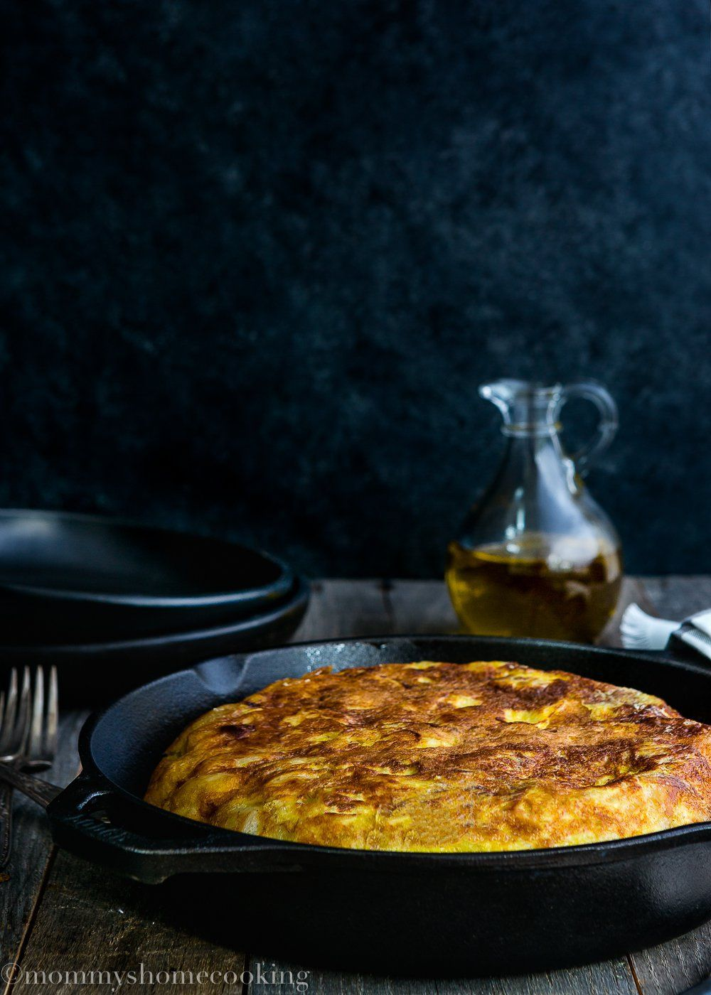 This Potato-and-Onion Frittata, a.k.a Tortilla Española, is Spain's classic tapa. It is such a simple and versatile meal – great for breakfast, lunch, or dinner. http://mommyshomecooking.com