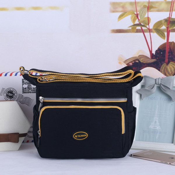 Women Casual Multi-pocket Waterproof Nylon Shoulder Bags Crossbody Bags