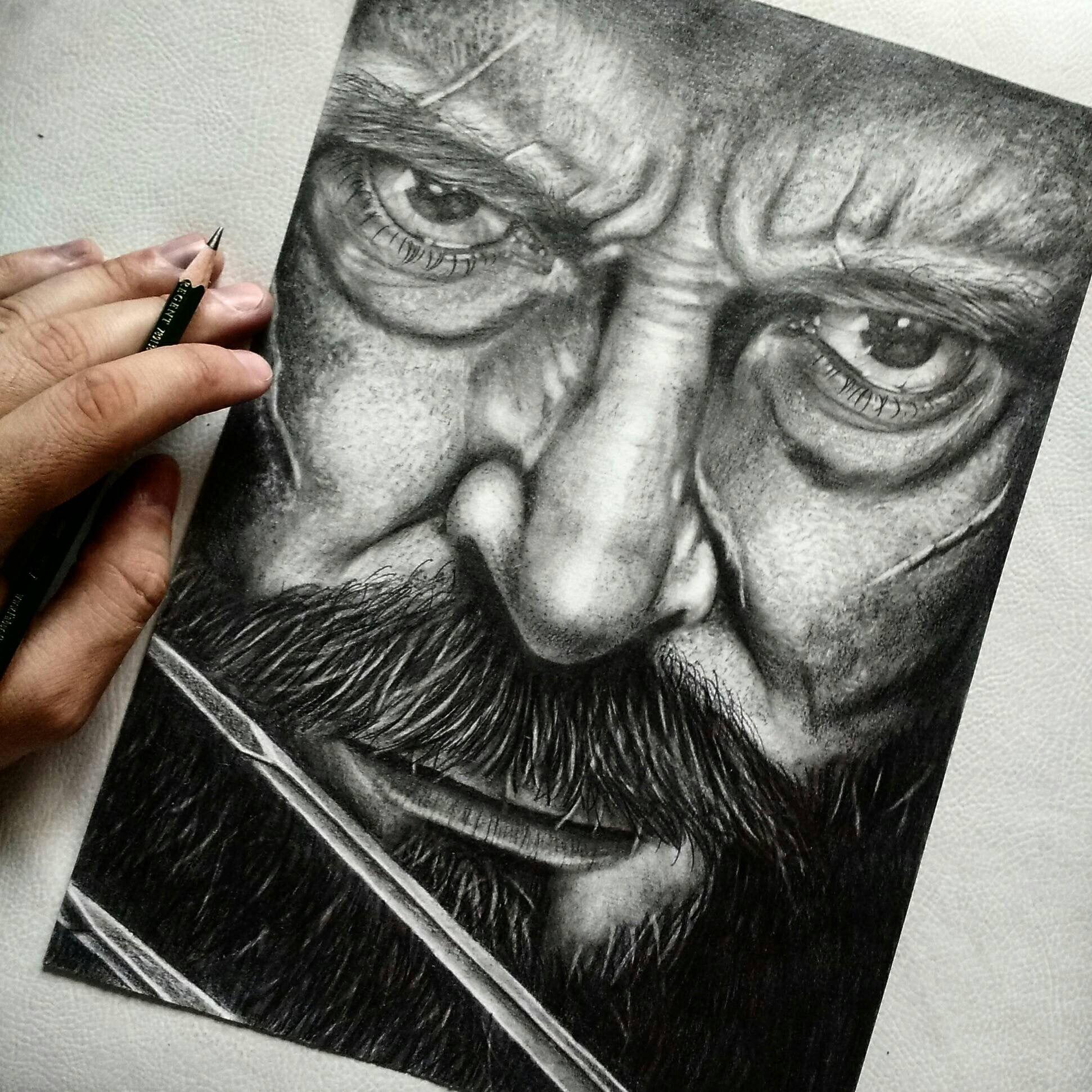 Logan Portrait by Fernando Couto de Magalhães. Canson A4 Faber ...