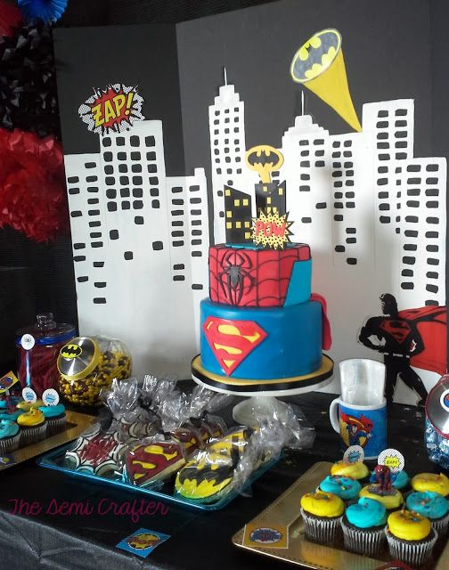 The Semi Crafter: Superhero 15th Birthday Party