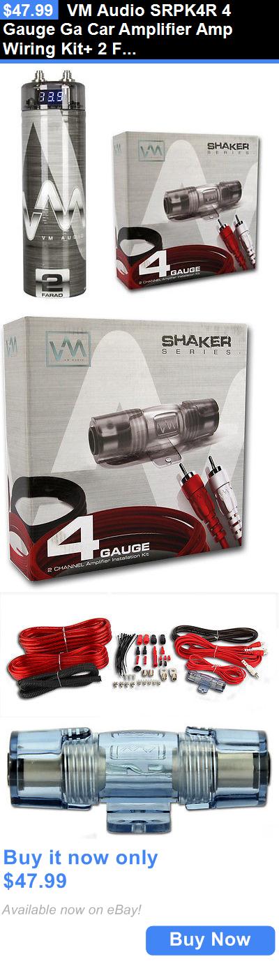 amplifier kits vm audio srpk4r 4 gauge ga car amplifier amp wiring rh pinterest co uk